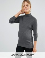 Asos High Neck Sweater in Rib