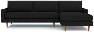 Apt2B Scott 2pc Sectional Sofa RAF in BLACK