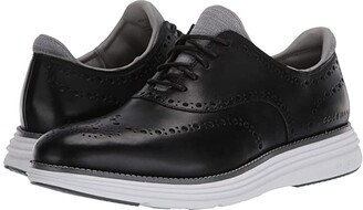 Cole Haan Original Grand Ultra Wing Ox (Black Leather/Optic White) Men's Shoes