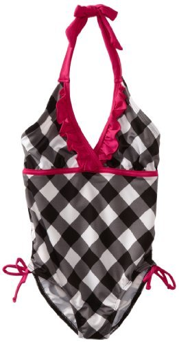 Pink Platinum Girls 7-16 Picnic Plaid Printed Swimsuit