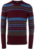 Roberto Collina striped crew neck jumper