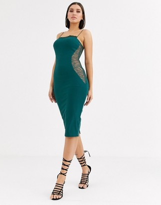 ASOS DESIGN lace contour midi dress