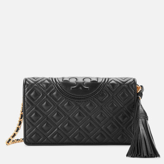 Tory Burch Women's Fleming Wallet Cross Body Bag - Black