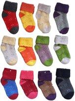 Lian LifeStyle 8 Pairs Children Cashmere Wool Love Hearts Socks Boy 1Y-3Y Random Color