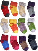 Lian LifeStyle 8 Pairs Children Wool Love Hearts Socks Boy 1Y-3Y Random Color