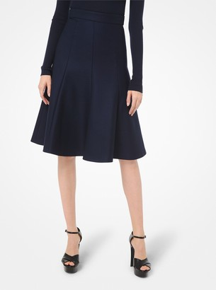 Michael Kors Collection Stretch Wool Gabardine Flare Skirt