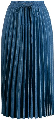RED Valentino Drawstring Pleated Midi Skirt