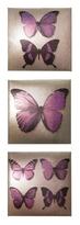 Art Wallpapers Plum Metallic Butterflies set