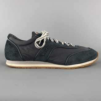 Moncler Navy Polyester Trainers