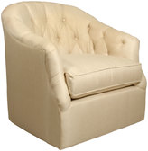 Horchow Rae St. Clair Gold Swivel Chair
