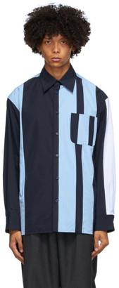 Marni Blue Striped Block Shirt
