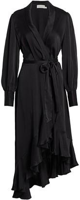 Zimmermann Super 8 Midi Silk Wrap Dress