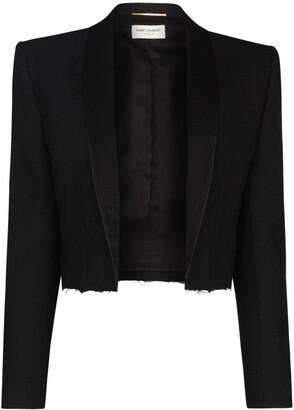 Saint Laurent Cropped Tuxedo Blazer