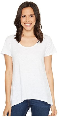 Fresh Produce Luna Top (White) Women's Short Sleeve Pullover