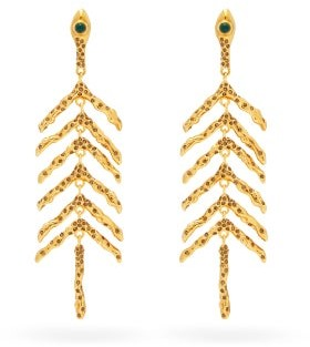 Chloé Connie Coral-branch Earrings - Womens - Gold