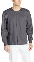 Cherokee Men's Ww Flex with Certainty Unisex Snap Front Warm-Up Jacket