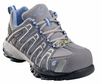 Nautilus 4391 Women's Blue Grey Lightweight Sd Athletic Work Shoes Soft Toe Grey 5.5 W US
