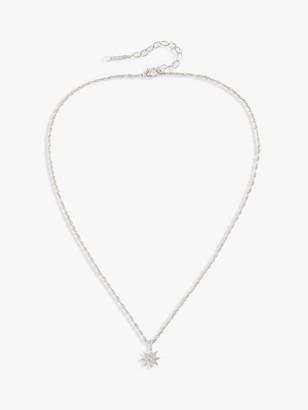 Susan Caplan Vintage D'Orlan Rhodium Plated Swarovski Crystal Star Pendant Necklace, Silver