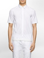 Calvin Klein Platinum Regular Fit Mesh Trim Short-Sleeve Shirt