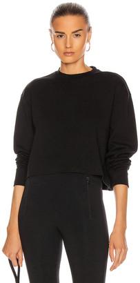 Wardrobe NYC Long Sleeve Crop Top in Black | FWRD