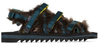 Suicoke Faux-Fur Strappy Sandals