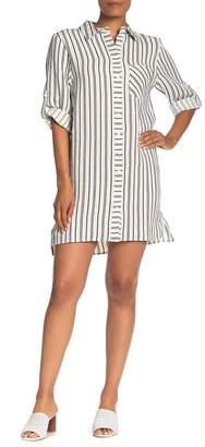 Milly 3/4 Sleeve Linen Shirt Dress