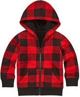 Arizona Long-Sleeve Sherpa-Lined Fleece Hoodie - Toddler Boys 2t-5t