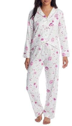 Lauren Ralph Lauren Ivory Floral Knit Pajama Set