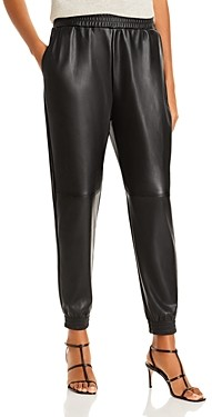 Aqua Faux Leather Joggers - 100% Exclusive