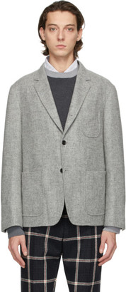 Thom Browne Grey Shetland Unconstructed Blazer