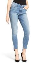 Good American Women's Good Legs Raw Step Hem Skinny Jeans