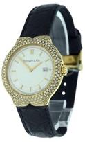 Tiffany & Co. Tessoro 18K Yellow Gold Diamond Bezel 34mm Womens Watch