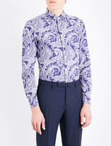 Etro Paisley-patterned tailored-fit cotton shirt