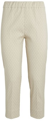 D-Exterior D.Exterior Metallic Jacquard Cropped Trousers