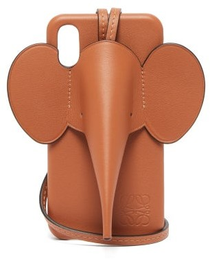 Loewe Elephant Iphone Xs Max Leather Phone Case - Tan