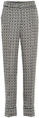 S Max Mara Markus printed silk twill pants