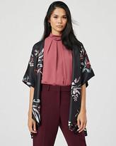Le Château Floral Print Open-Front Kimono