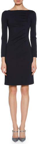 Giorgio Armani Long-Sleeve Ruched Jersey Dress