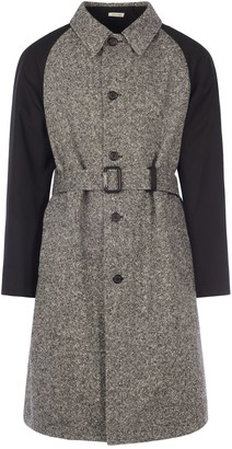 Alexander McQueen Two-Tone Single Breasted Coat