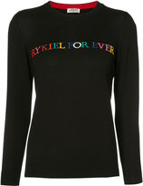 Sonia Rykiel embroidered sweater - women - Cotton/Viscose - S