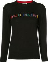 Sonia Rykiel embroidered sweater - women - Cotton/Viscose - XS