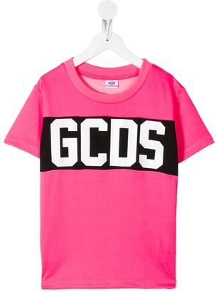 Gcds Kids logo printed T-shirt