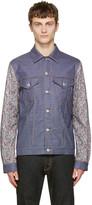 Junya Watanabe Blue Paisley Sleeves Shirt