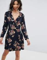 Only Wrap Front Skater Dress