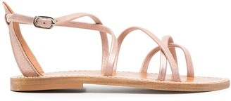 K. Jacques Irina crossover-strap sandals