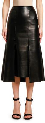 Alexander McQueen Lightweight Lambskin Leather Skirt