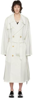 Maison Margiela Off-White Recycled Nylon Trench Coat