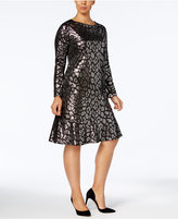 MICHAEL Michael Kors Size Metallic Flounce Dress