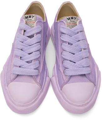 Miharayasuhiro Purple Over-Dyed OG Sole Peterson Sneakers