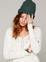 Free People Todela Crochet Henley